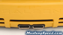 Rear Dual Center Exhaust on 2005 Saleen Mustang