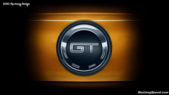 2010 Ford Mustang GT Badge